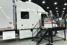 Bolt Custom Trucks MATS booth 2017 Freightliner Cascadia